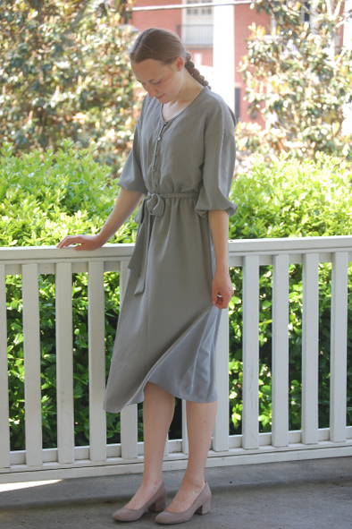 Grey Button Up Dress