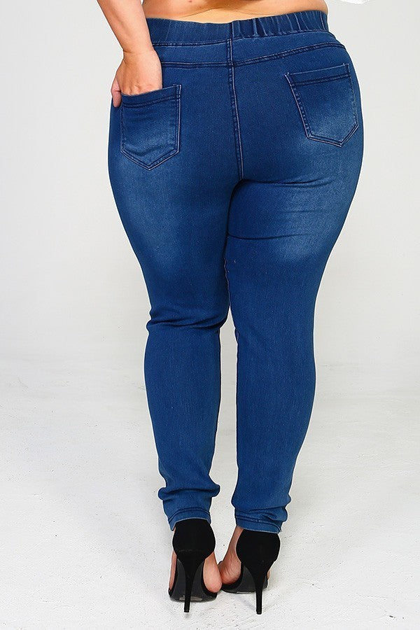 Skinny Distressed Jegging