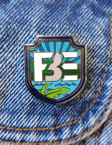 FBE Shield Enamel Pin