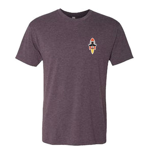 Eric Mustache Rocket Tee v2 (Purple)