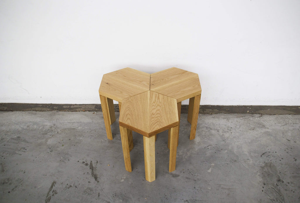 Hex Occasional Table (American Oak)