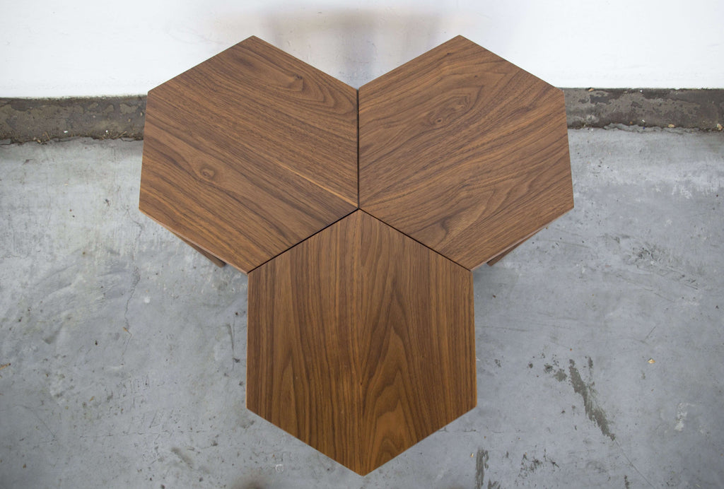 Hex Occasional Table (American Walnut)