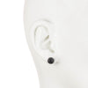 Jet Crystal</br> 8mm Stud Earrings