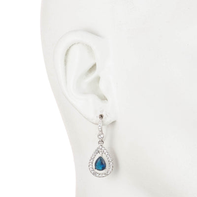 Pave Teardrop<br/>Wire Earring