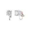 Round Cubic Zirconia<br/> Clip Earring