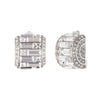 Rectangular Deco<br/> Clip Earring