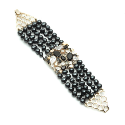 Opening Night<br/> Multi Row Pearl Bracelet