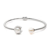 Freshwater Pearl<br/> Open Hinged C Bangle Bracelet
