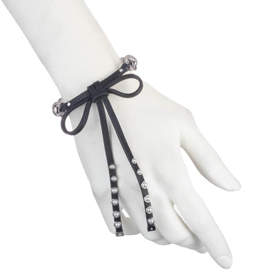 Dita<br/> Pearl and Leather Bow Flex Bracelet