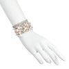 Athena <br/> Pearl and Rose Quartz Wide Mesh Bracelet
