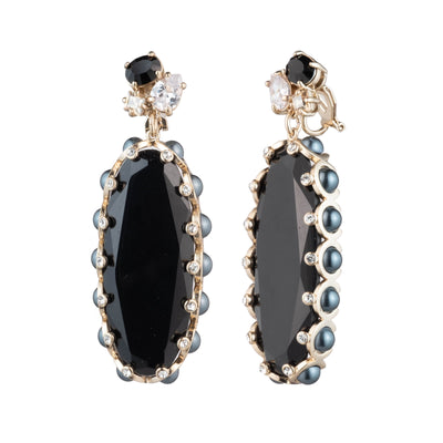 Opening Night<br/> Elongated Stone Clip Earring