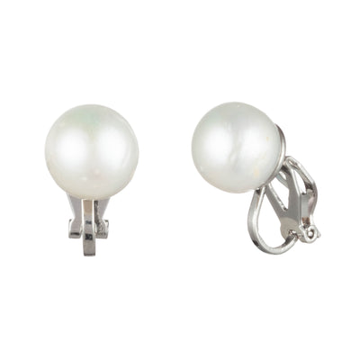 Freshwater Pearl<br/> 10mm Stud Clip Earring