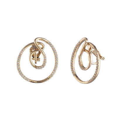 After The Party<br/>Swirl Clip Earring