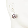 Fashionably Late<br/>Pearl Door Knocker Clip Earring