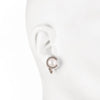 Freshwater Pearl<br/> C Stud Clip Earring