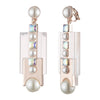 Roisin<br/> Clip Resin Double Drop Earring