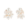 Athena <br/> Cluster Pearl and Rose Quartz Clip Earring
