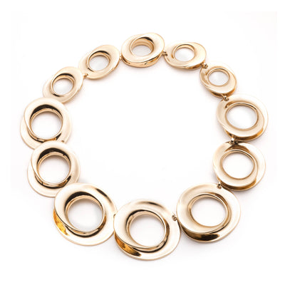 On Cloud Nine </br> Metal Link Gold Tone Necklace</br>Exclusively Ours