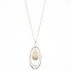 "Golden Hour<br/> 36"" Sculptural Pendant Necklace"