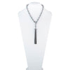 Fashionably Late<br/> Adjustable Chain Pearl Tassel Necklace