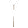 Grace<br/> 2 in 1 Layered Fringe & Tassel Necklace