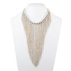 Grace<br/> Drama Fringe Bib Necklace