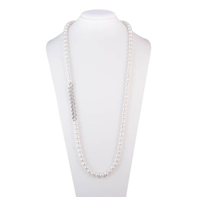 "Freshwater Pearl<br/>36"" Station Necklace"