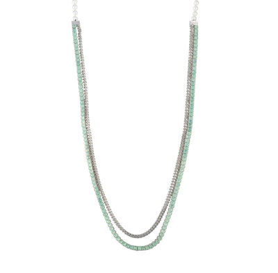 "Marlene<br/> 36"" in Pearl and Stone Chain Necklace"