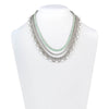 "Marlene<br/> 16"" Pearl and Stone Chain Drama Necklace"