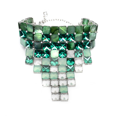 Nicki<br/> Pixel Bib Necklace