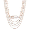 Roisin<br/> Multi Row Chain and Resin Necklace