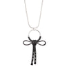 "Dita<br/> 34"" Leather Bow Detail Pendant Necklace"