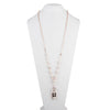 "Roisin<br/> 34"" Resin and Pearl Pendant Necklace"