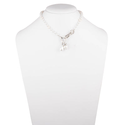 "Sara <br/>14.5"" Pearl Charm Necklace"
