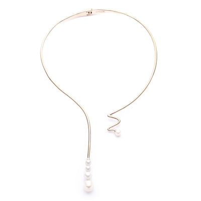 "Eva<br/> 15"" Open Wire Y Hinge Necklace"