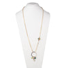 "Florence <br/>34"" Hoop Pendant with Charm Necklace"