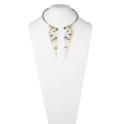 Alice<br/>Cascade Pearl Collar Necklace