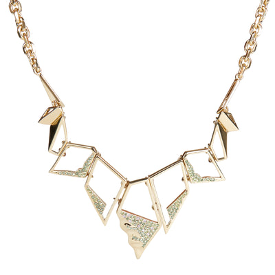 Flora <br/> Geometric Pave Necklace