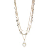 Diana<br/> Baroque Pearl charm Necklace