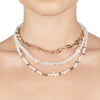 Cleo <br/>Layered Semi and Pearl Necklace