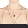 Cleo <br/>Layered Pearl Charm Necklace
