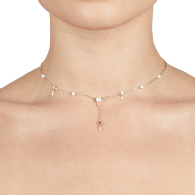 Daisy <br/> Freshwater Pearl dropletNecklace