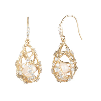 Starstruck</br> Caged Pearl Drop Earring