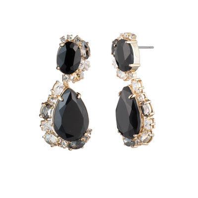 Opening Night<br/> Double Drop Stone Earring