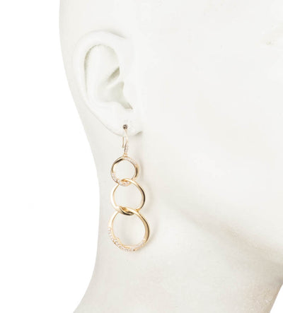 After The Party<br/>Triple Link Linear Earring