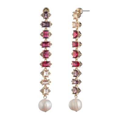 Out All Night<br/> Pink Ombre Linear Earring
