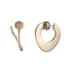 Golden Hour<br/> Twisted Metal Hoop Earring