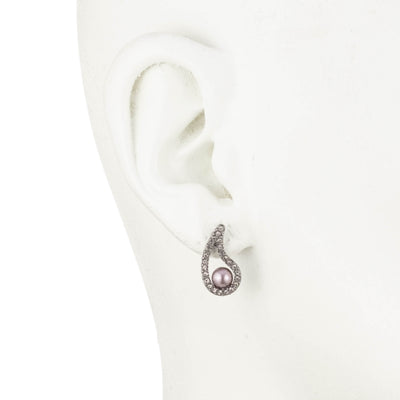 Fashionably Late<br/>Paisley Pave Pearl Earring