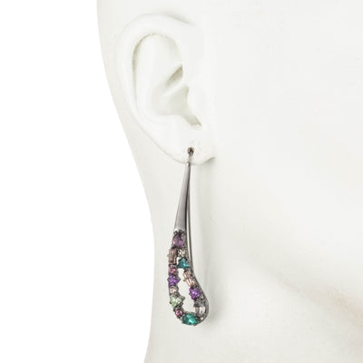 Fashionably Late<br/>Paisley Encrusted Stone Earring
