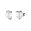 Michelle<br/>Metal Wrapped Pearl Stud Earring